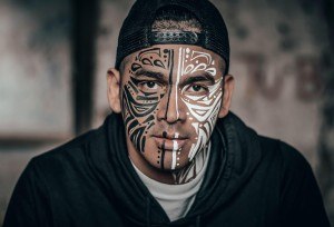 Man with Face Tattoos